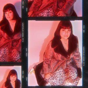 Vtg 60a Velvet Vegan Fur Festive Belt Coat S M